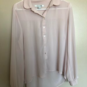 Pink Forever 21 button down blouse